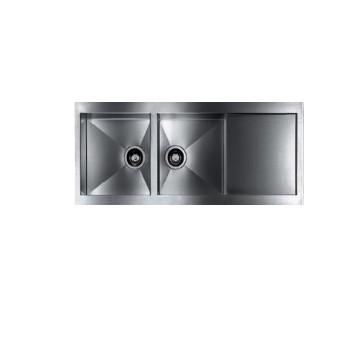 سینک آشپزخانه توکار دو لگن لامیرا مدل Reveres