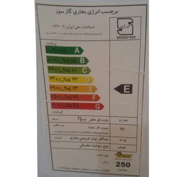 بخاری گازی ایران شرق مدل بنیامین CH250
