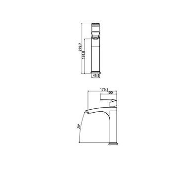 شیر روشویی پایه بلند Shouder مدل باواریا