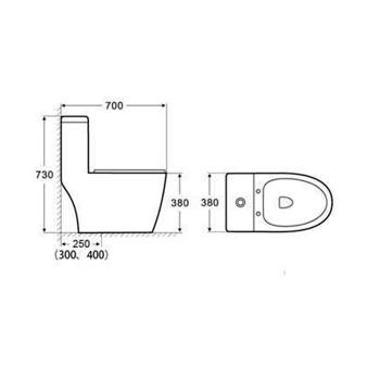 توالت فرنگی YA-3373 یاتو