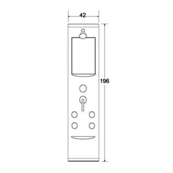 پانل دوش N-SP015 شاینی