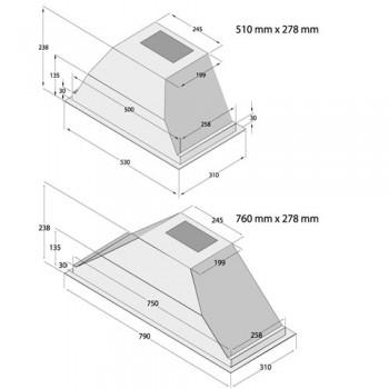 هود آشپزخانه میکس مدل B1170-B1160