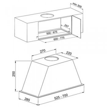 هود آشپزخانه میکس مدل B1660- B1670